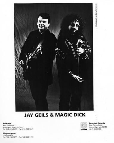 J. Geils and Magic Dick Promo Print