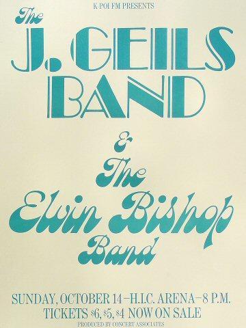 J. Geils Band Poster