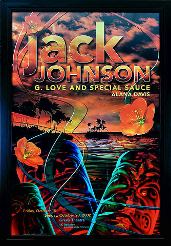 Jack Johnson Framed Poster