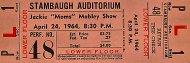 "Jackie ""Moms"" Mabley Show Vintage Ticket"