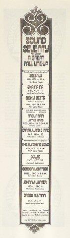 Jackson Browne Handbill reverse side