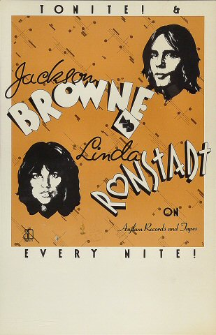 Jackson Browne Poster 1974 At Wolfgang S