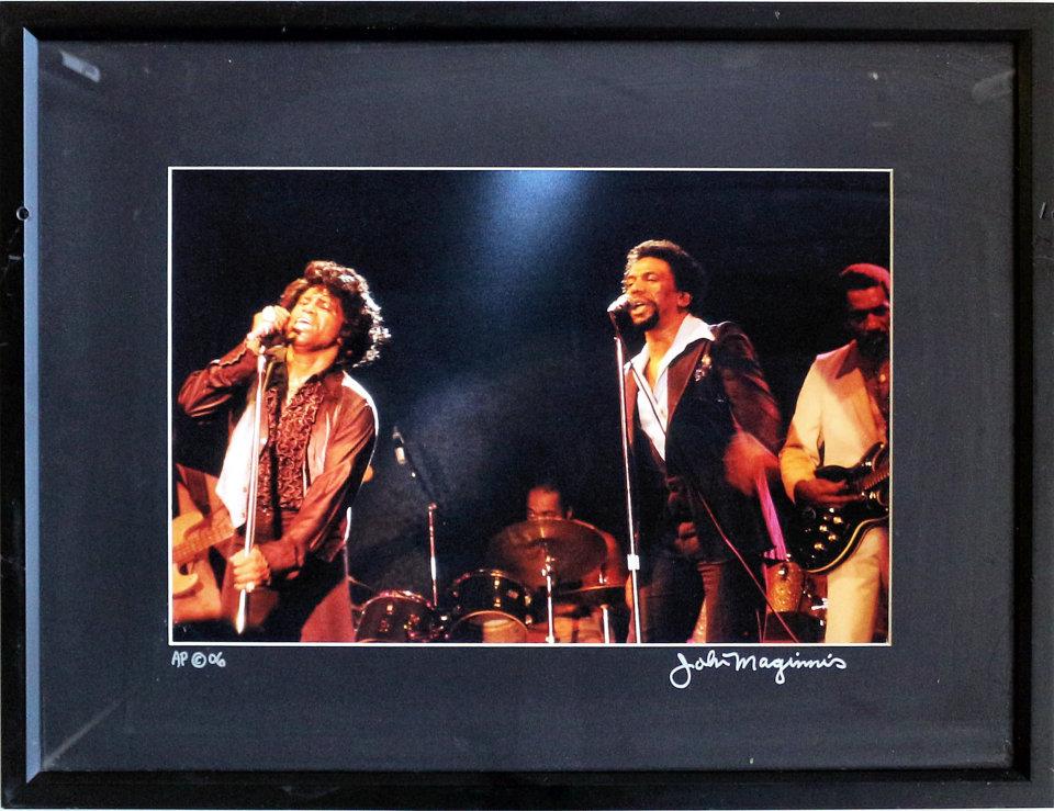 James Brown Framed Vintage Print