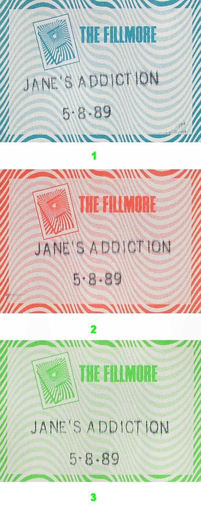Jane's Addiction Backstage Pass