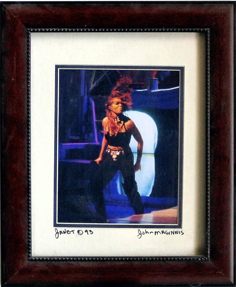 Janet Jackson Framed Vintage Print