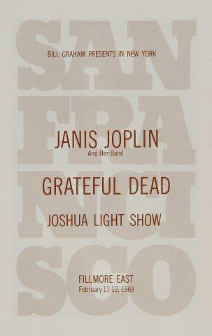 Janis Joplin Program reverse side