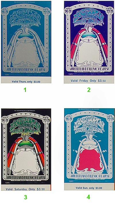 Janis Joplin Vintage Ticket
