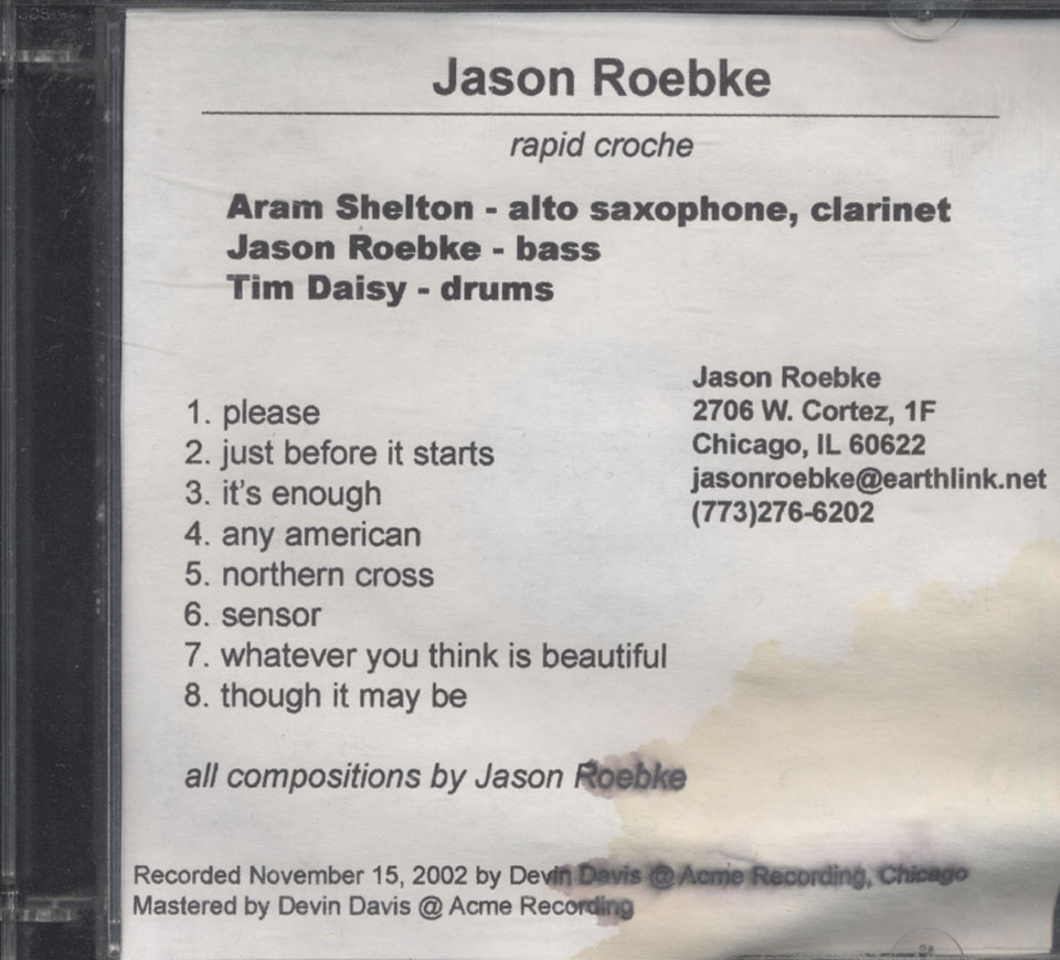 Jason Roebke CD