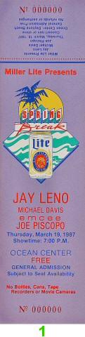 Jay Leno Vintage Ticket