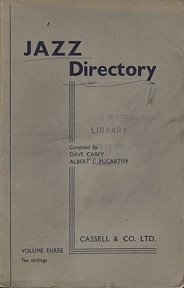 Jazz Directory: Volume 3 - Ten Shillings