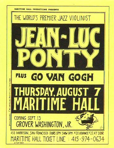 Jean-Luc Ponty Handbill