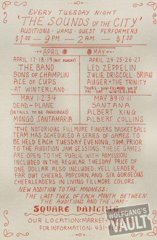 Jeff Beck Group Handbill reverse side