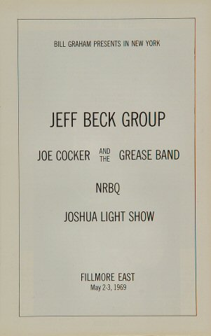 Jeff Beck Group Program reverse side