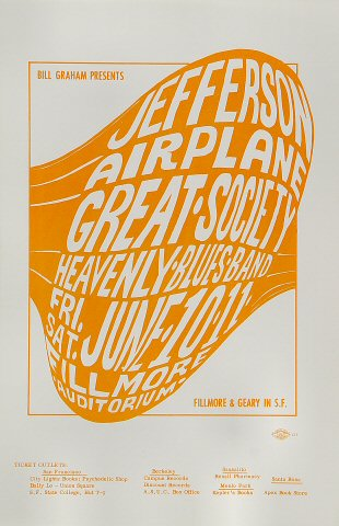 Jefferson Airplane Handbill