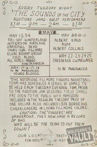 Jefferson Airplane Handbill reverse side