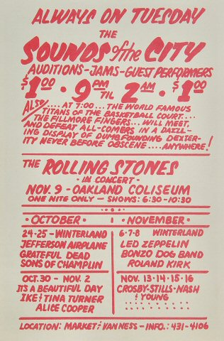 Jefferson Airplane Handbill reverse side