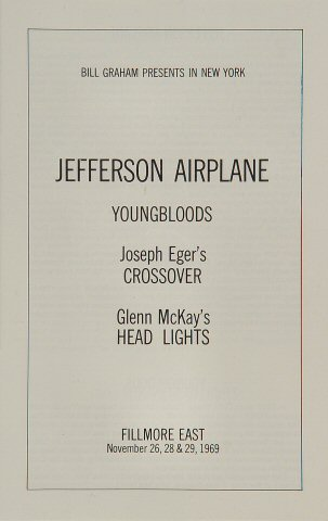 Jefferson Airplane Program reverse side