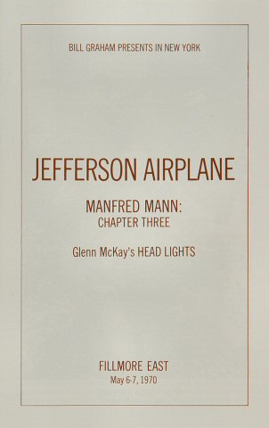 Jefferson Airplane Program reverse side