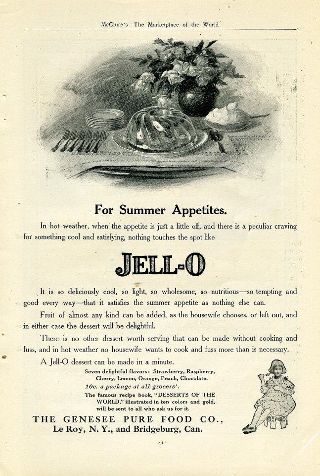 Jell-O Vintage Ad