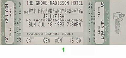 Jellyfish Vintage Ticket