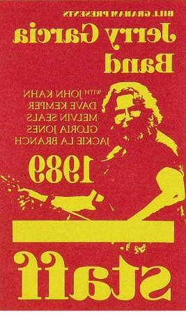 Jerry Garcia Band Laminate reverse side