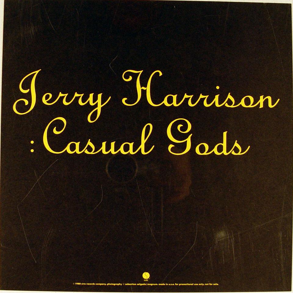 Jerry Harrison Album Flat reverse side