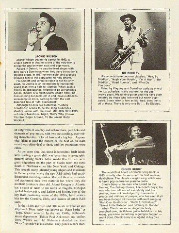 Jerry Lee Lewis Program reverse side