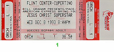 Jesus Christ Superstar Vintage Ticket
