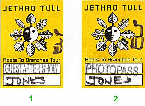 Jethro Tull Backstage Pass
