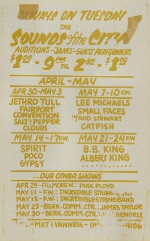 Jethro Tull Handbill reverse side
