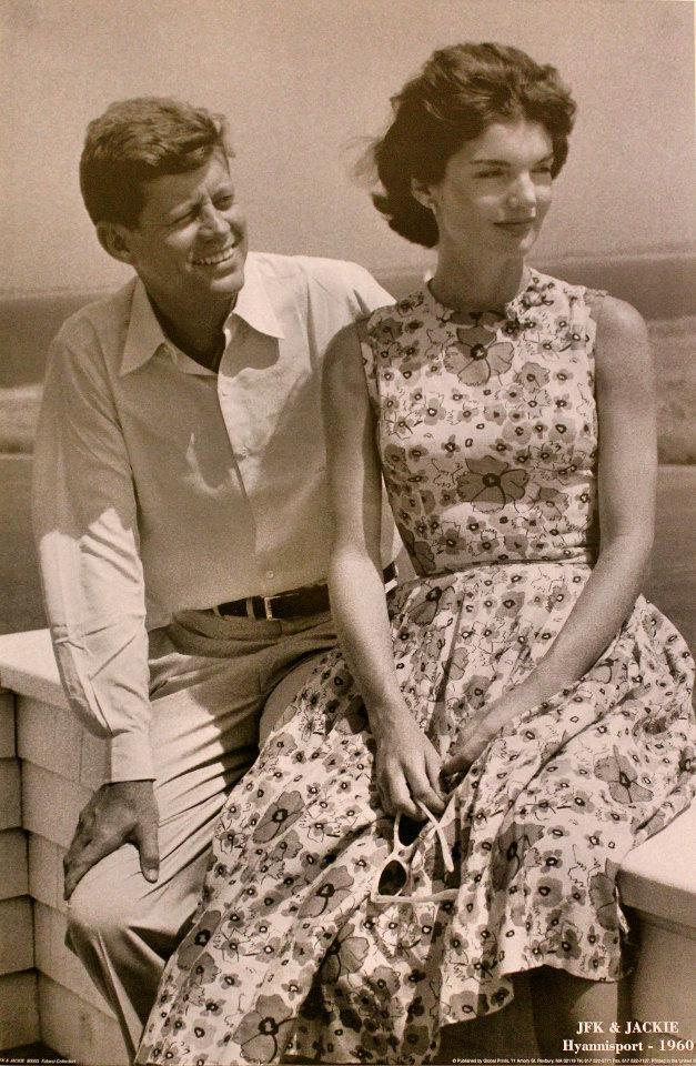 JFK & Jackie Hyannisport - 1960 Poster