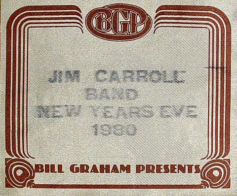 Jim Carroll Backstage Pass