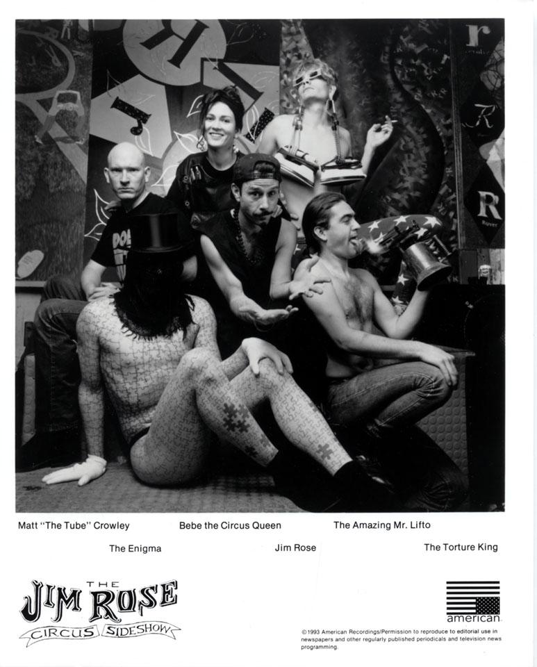 Jim Rose Circus Side Show Promo Print