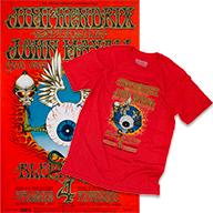 Jimi Hendrix Experience Poster/Men's T-Shirt Bundle