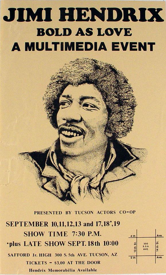 Jimi Hendrix Handbill
