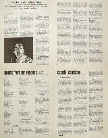Jimi Hendrix Poster reverse side