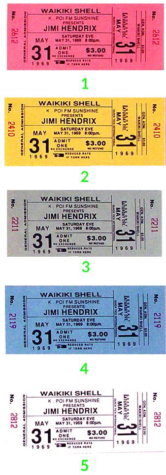 Jimi Hendrix Vintage Ticket