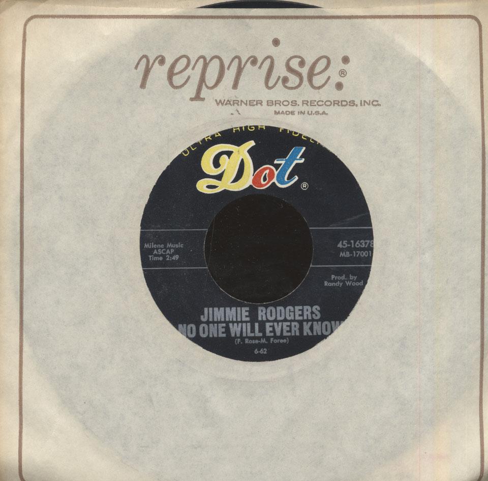 "Jimmie Rodgers Vinyl 7"" (Used)"