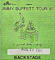 Jimmy Buffett Backstage Pass