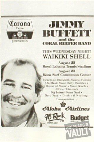 Jimmy Buffett Handbill