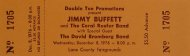 Jimmy Buffett Vintage Ticket