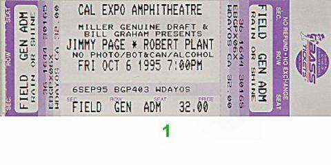 Jimmy Page Vintage Ticket