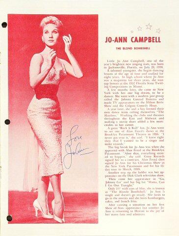 Jo-Ann Campbell Program reverse side