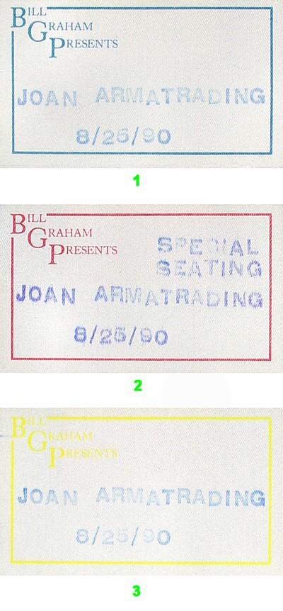 Joan Armatrading Backstage Pass