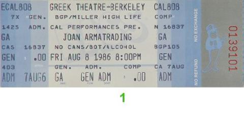 Joan Armatrading Vintage Ticket