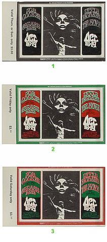 Joe Cocker & The Grease Band Vintage Ticket