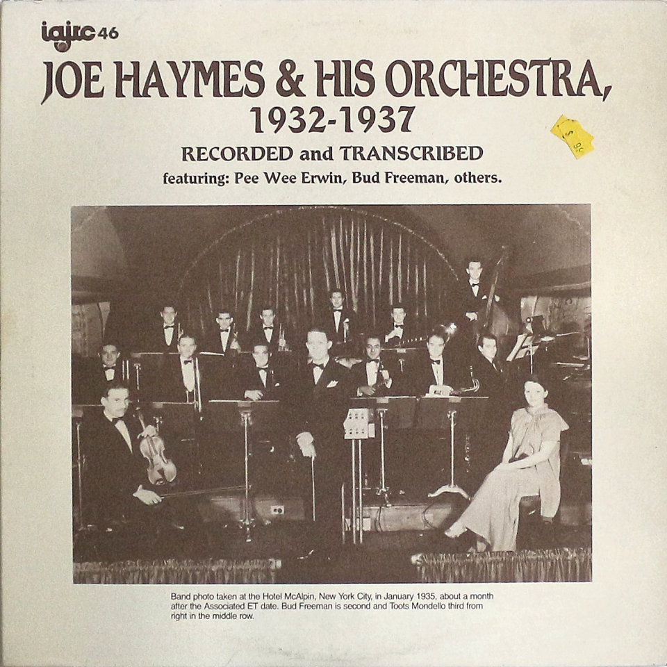 "Joe Haymes & His Orchestra Vinyl 12"" (Used)"
