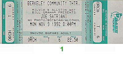 Joe Satriani Vintage Ticket