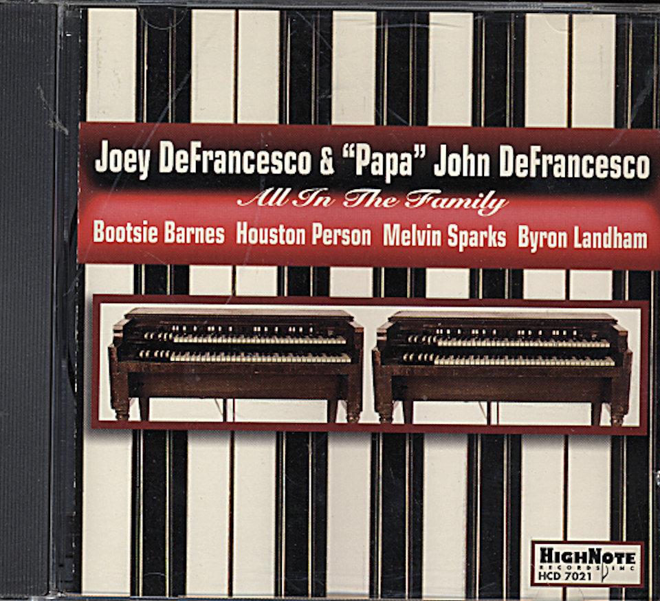 """Joet DeFrancesco & """"Papa"""" John DeFrancesco CD"""