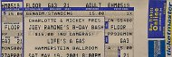 Joey Ramone's B-Day Bash Vintage Ticket
